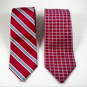 Tommy Hilfiger pair of red white & blue neckties